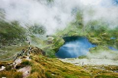 Landscape from Capra Lake in Romania Royalty Free Stock Photography