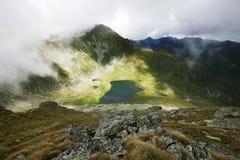 Landscape from Capra Lake in Romania Stock Photo