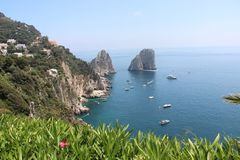 Landscape Capri island spring beautiful nature Italy royalty free stock photography