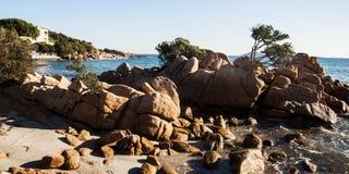Landscape  Capriccioli bay esmerald cost sardinia Stock Photos