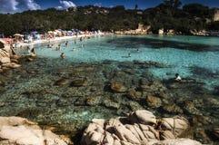 Landscape Capriccioli bay esmerald cost sardinia Stock Photo