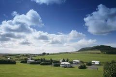 Landscape of caravan park Stock Image