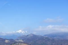 Landscape in Carpathian 2. Frost landscape trees snow Stock Photo