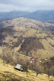 Landscape in Carpathian 4. Frost landscape trees snow Royalty Free Stock Image