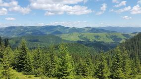 The landscape of the Carpathian mountains Royalty Free Stock Photo
