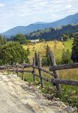 Landscape in the Carpathian mountains Royalty Free Stock Image