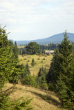 Landscape in the Carpathian mountains Royalty Free Stock Photos