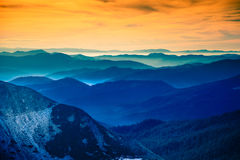 The landscape in the Carpathian mountains Stock Photos