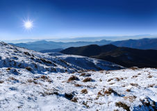 Landscape Carpathians mountains Stock Photography