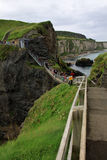 Carrick-a-rede rope bridge, antrim coast, northern ireland Stock Photos