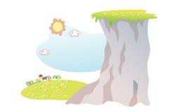 Landscape cartoon Stock Images