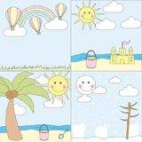 Landscape cartoons Royalty Free Stock Photos