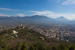 Landscape of Cassino, Italy stock photos