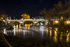 Castel Sant`Angelo in Rome in Italy. Stock Images