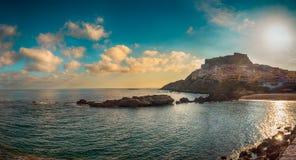 Landscape of castelsardo, sardinia.tif. Beach near the city of castelsardo in a sunny day Royalty Free Stock Images