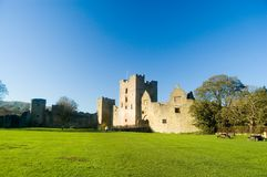 Landscape and castle. Ludlow castle Stock Photo