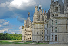 Landscape of the castle Chambord Stock Photo