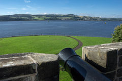 Landscape. From the castle of dumbarton royalty free stock photography