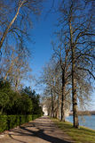 Landscape in the castle of Fontainebleau Royalty Free Stock Images