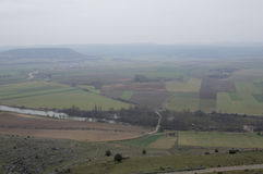 Landscape from the castle of Gormaz. In Soria, Spain Stock Photography