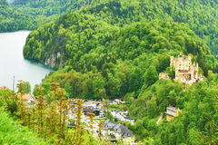 Landscape with castle of Hohenschwangau in Germany Royalty Free Stock Photos