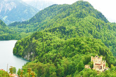 Landscape with castle of Hohenschwangau in Germany Royalty Free Stock Photo