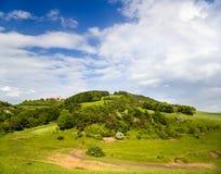Landscape with Castle Leuchtenburg Stock Photography