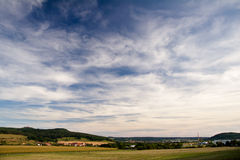 Landscape with castle Leuchtenburg Stock Photos