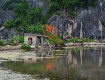 Landscape of Cat Ba Island in North of Vietnam Royalty Free Stock Photo