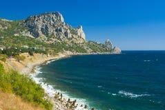 Landscape with Cat Mountain, Crimea, Ukraine stock photography
