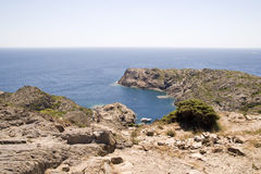 Landscape on the Catalan coast Stock Photography