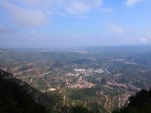 Landscape of catalonia. Views from Montserrat Stock Images