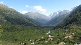 Wild nature. Landscape of caucasian mountains Stock Photo