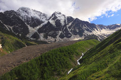 Landscape in Caucasus Mountains Stock Images