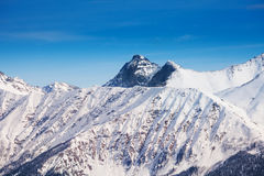 Landscape of Caucasus mountains peak  during day Stock Photography