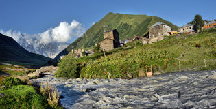 Landscape with Caucasus Shkhara mountain Royalty Free Stock Image