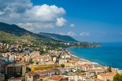 Landscape of Cefalu. Royalty Free Stock Photography