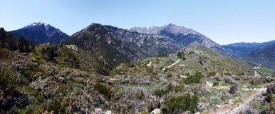 Landscape of central Corsica seen from Vivario commune Stock Photos