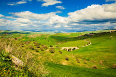 Landscape in the central Sicily Royalty Free Stock Photos