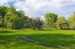 Landscape in central Ukraine Royalty Free Stock Images