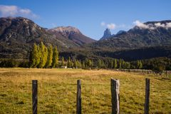 Landscape in Cerro Castillo in chilean Patagonia royalty free stock image