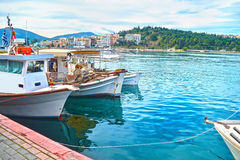 Landscape of Chalcis Euboea Greece royalty free stock photography