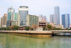 Landscape of Chengdu stock images