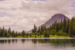 Landscape of Chester lake and Mt Galatea Stock Image