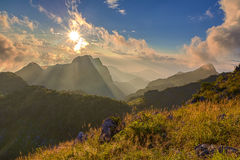 Landscape of Chiang Dao big mountain Royalty Free Stock Image