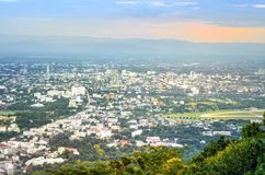 Landscape of Chiangmai city in Thailand country Royalty Free Stock Photos