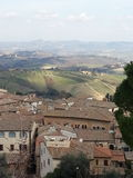 Landscape of Chianti countryside Royalty Free Stock Photo