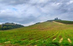 Landscape in Chianti region in province of Siena. Tuscany. Italy. Landscape in Chianti region in province of Siena. Tuscany landscape. Italy stock photo