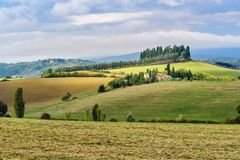 Landscape in Chianti region in province of Siena. Tuscany. Italy. Landscape in Chianti region in province of Siena. Tuscany landscape. Italy royalty free stock photography
