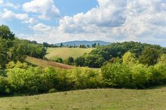 Landscape in Chianti region in province of Siena. Tuscany. Italy royalty free stock photos